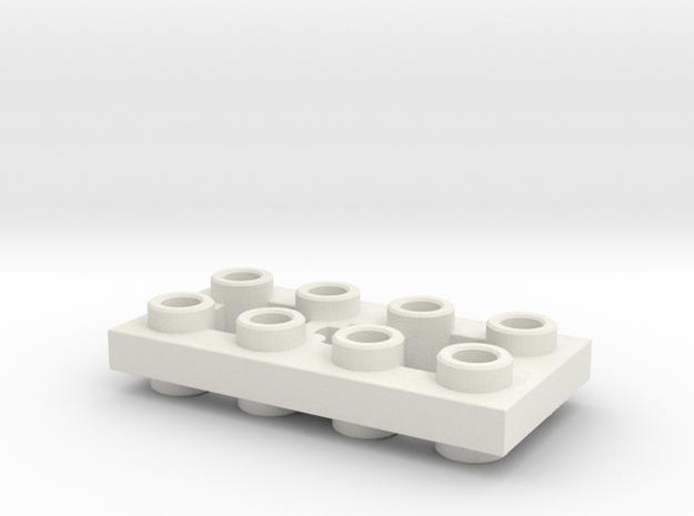 Mirror Plate 2x4 in White Natural Versatile Plastic