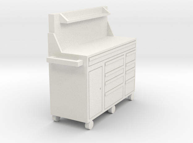 1/64 60 in tool box with shelf in White Natural Versatile Plastic