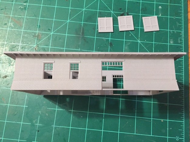 Front Wall Illinois Terminal Station Part 1 in Smooth Fine Detail Plastic