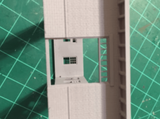 Left Freight Wall Illinois Terminal Station Part 2 in Smooth Fine Detail Plastic