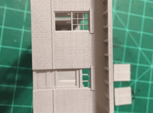 Right Wall Illinois Terminal Station Part 4 in Smooth Fine Detail Plastic