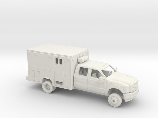 1/72 2011-16 Ford F Series Crew Cab Ambulance Kit in White Natural Versatile Plastic