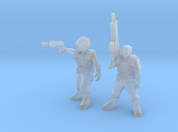 28mm SciFi crude armor guards in Smoothest Fine Detail Plastic