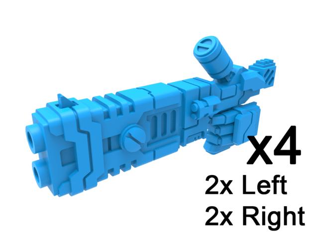 Gunslinger Fusion Guns in Smooth Fine Detail Plastic