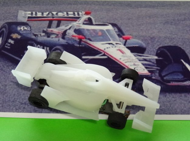 HO 2020 Indy car in White Processed Versatile Plastic