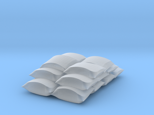 HO scale stacked sacks in Smooth Fine Detail Plastic
