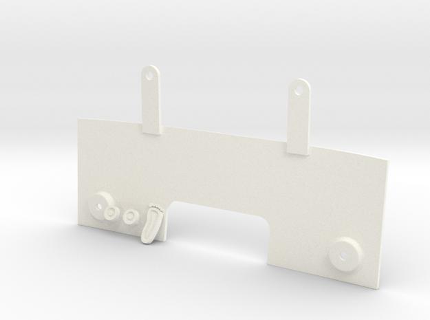 016004-01 Scorcher Firewall in White Processed Versatile Plastic