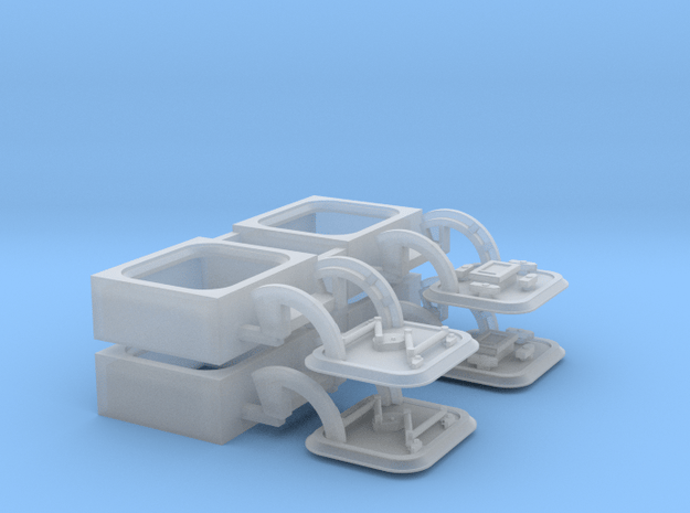 48-H0090: 4 carrier deck hatches in 1:48 in Smooth Fine Detail Plastic