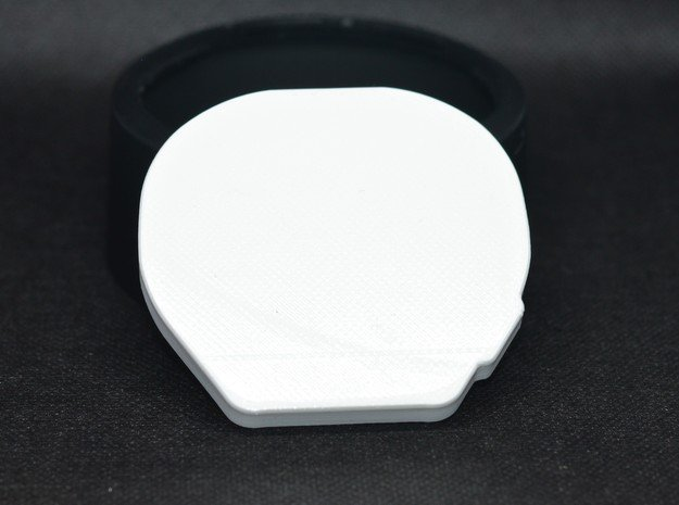 Fifth wheel cover Tamiya X3 in White Processed Versatile Plastic
