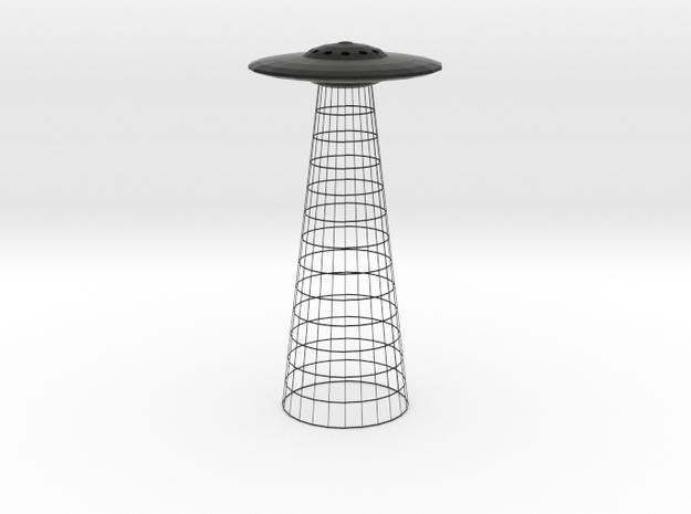 UFO Table Lamp in Black Natural Versatile Plastic
