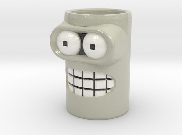 bender cofee cup in Glossy Full Color Sandstone