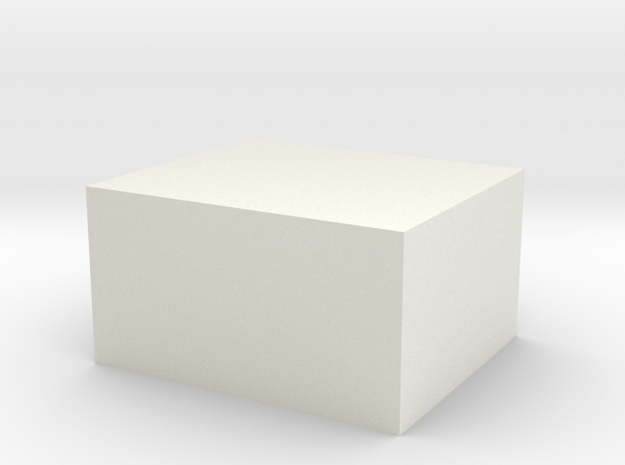 The largest hollow WSF object Shapeways can print in White Natural Versatile Plastic