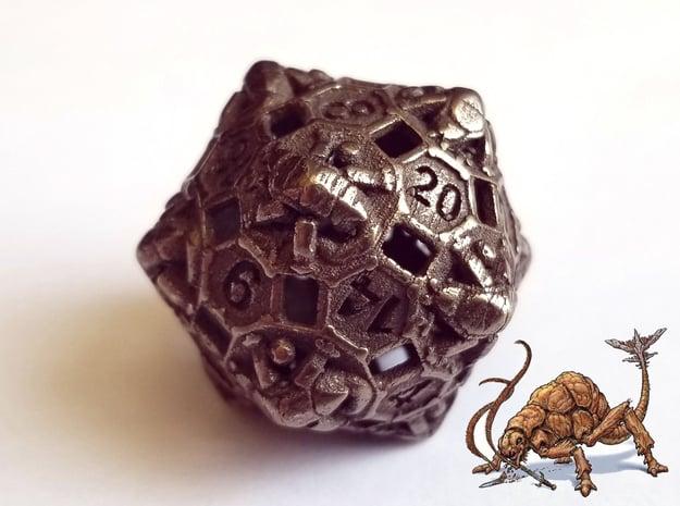 D20 Balanced - Rust Monster in Polished Bronze Steel