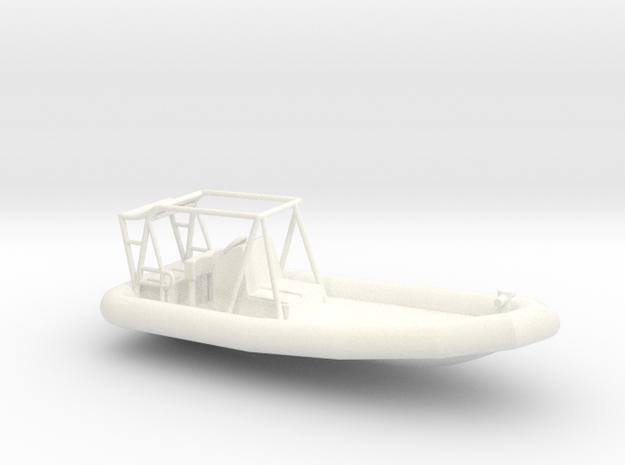 RHIB 700 1/96 in White Processed Versatile Plastic