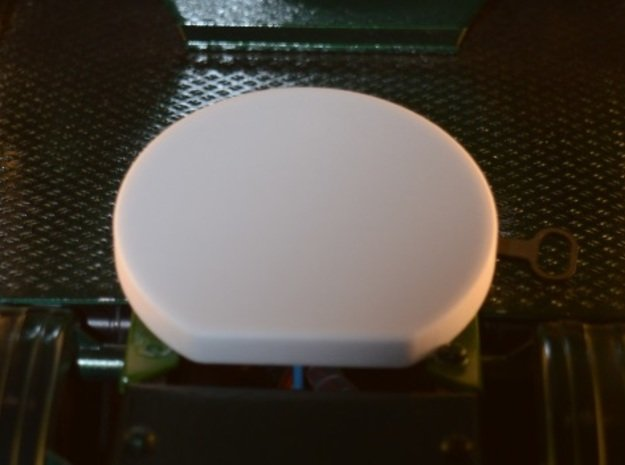 Fifth wheel Cover Tamiya E10 in White Processed Versatile Plastic