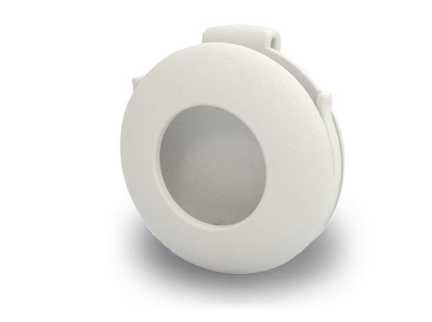 AirTag Case in White Natural Versatile Plastic