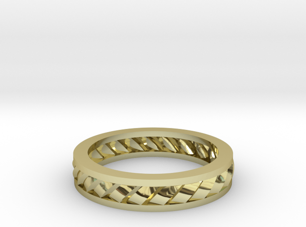 GBW2 Lds Wedding Band in 18k Gold