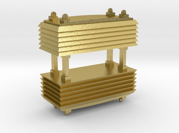 Widerstandsbremse E95-02 - 1:120 TT in Natural Brass