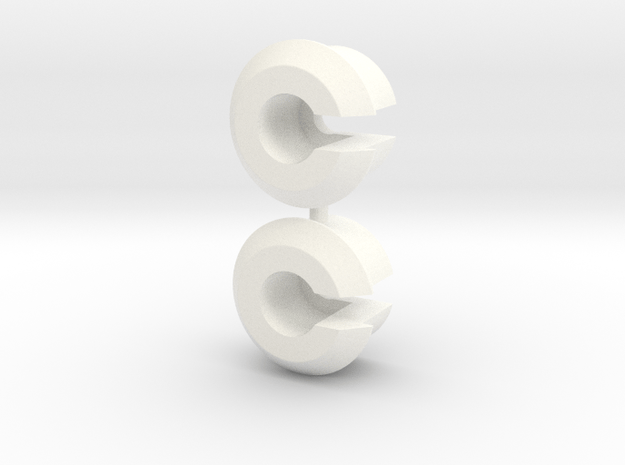 RC10 SHOCK SPRING CUP SET in White Processed Versatile Plastic