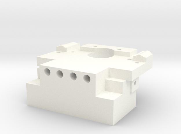 RC10 BULKHEAD REAR in White Processed Versatile Plastic