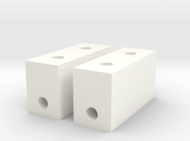 RC10 SERVO MOUNT SET in White Processed Versatile Plastic