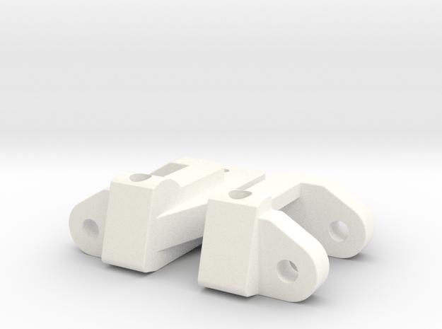 RC10 C-HUBS SET 30 DEGREES in White Processed Versatile Plastic