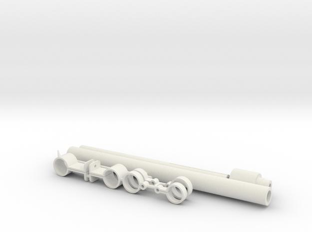 ST Flamethrower Inner Aluminum Parts in White Natural Versatile Plastic
