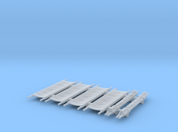 US WW2 Stretchers 1/48 scale in Smooth Fine Detail Plastic