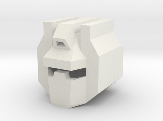 Robohelmet: Traditional Dino King in White Natural Versatile Plastic