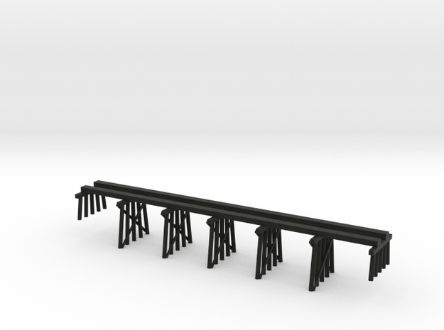Timber Trestle N Scale: SP Common Standard Design  in Black Natural Versatile Plastic