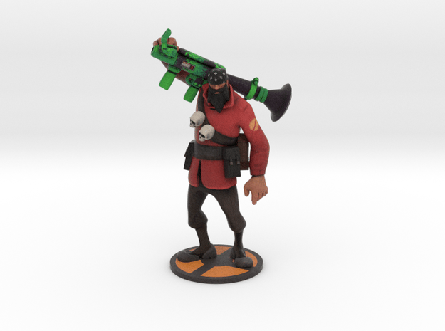 Helldriver Soldier in Natural Full Color Sandstone