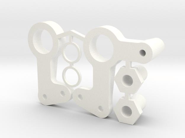 RC10 BELL CRANK ARM SET in White Processed Versatile Plastic
