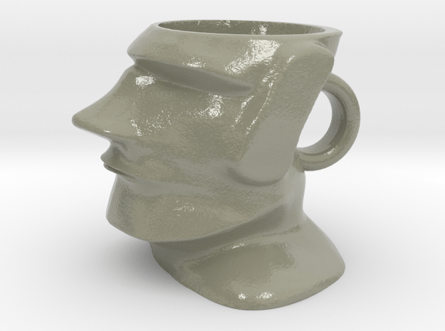 Moai Cofee Cup in Glossy Full Color Sandstone