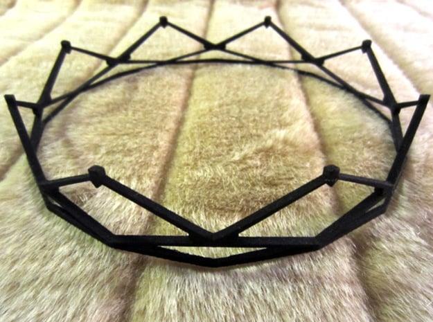 Crown in Black Natural Versatile Plastic
