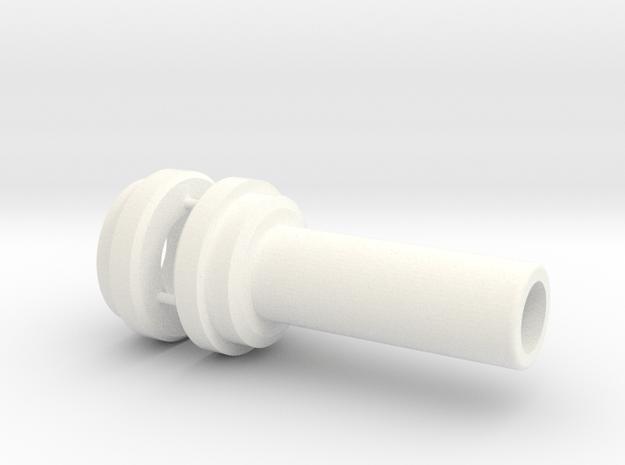 Lancia Beta brake pedal shaft sleeve 1 in White Processed Versatile Plastic