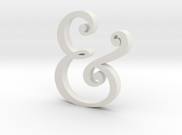 Acrylic Ampersand in White Natural Versatile Plastic: Medium