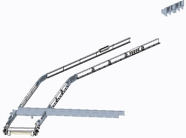 Minenbahn Schienensatz 1:40 Typ-B (WERRA Bb.) in Smooth Fine Detail Plastic