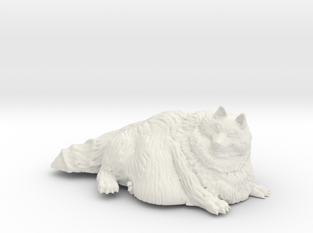 Wide Wolf in White Natural Versatile Plastic