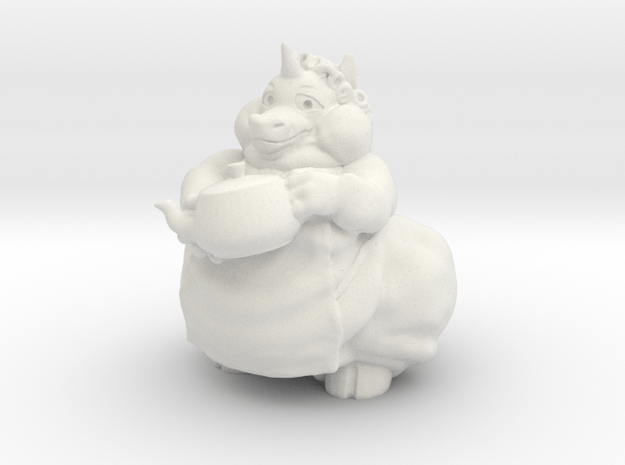 Chubby Charlie Mini in White Natural Versatile Plastic