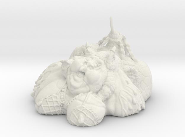 Seductive Dragon Blob in White Natural Versatile Plastic: Medium