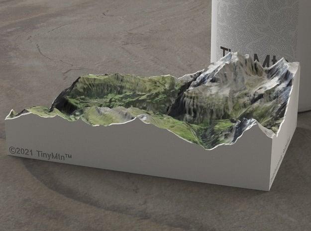 Lauterbrunnen Valley, Switzerland, 1:100000 in Natural Full Color Sandstone