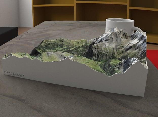Lauterbrunnen Valley, Switzerland, 1:50000 in Natural Full Color Sandstone