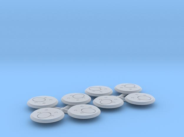 1:32 Nahverteidigungswaffe (8 pcs) in Smooth Fine Detail Plastic