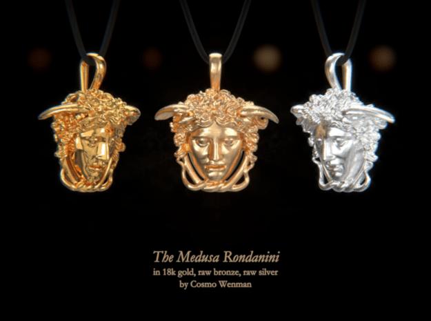THE MEDUSA RONDANINI necklace pendant in Natural Bronze