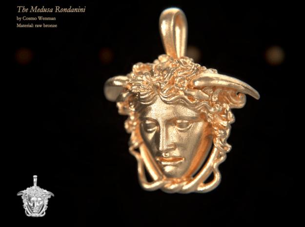 THE MEDUSA RONDANINI petite necklace pendant in Natural Bronze