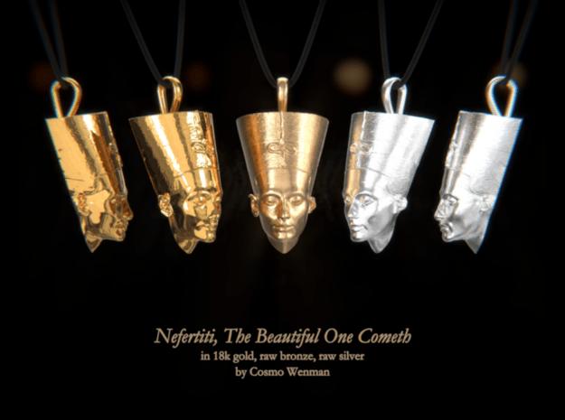 NEFERTITI necklace pendant (facing forward) in Natural Bronze