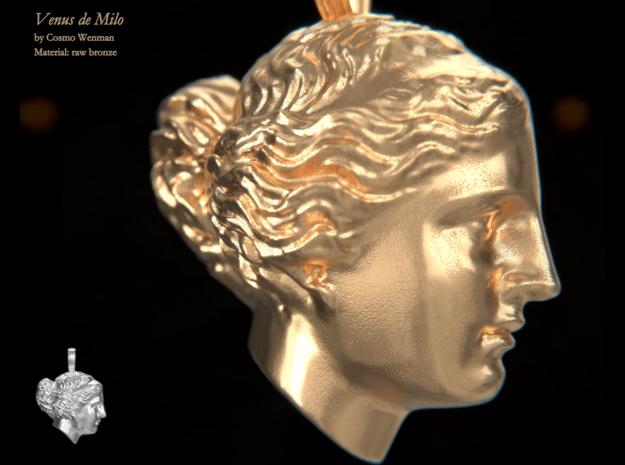 VENUS DE MILO necklace pendant in Natural Bronze