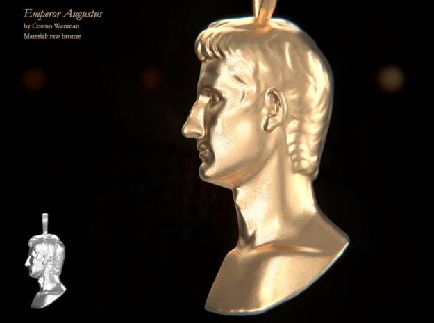 EMPEROR AUGUSTUS necklace pendant in Natural Bronze