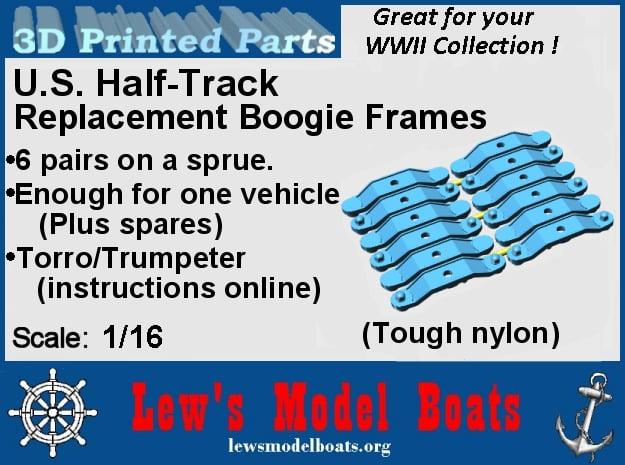 Bogie Frame (sets) in White Natural Versatile Plastic: 1:16