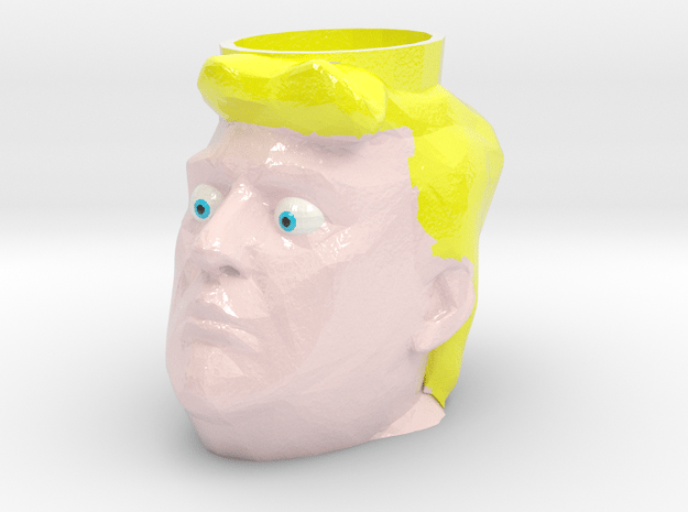 Donald Trump Cup in Glossy Full Color Sandstone